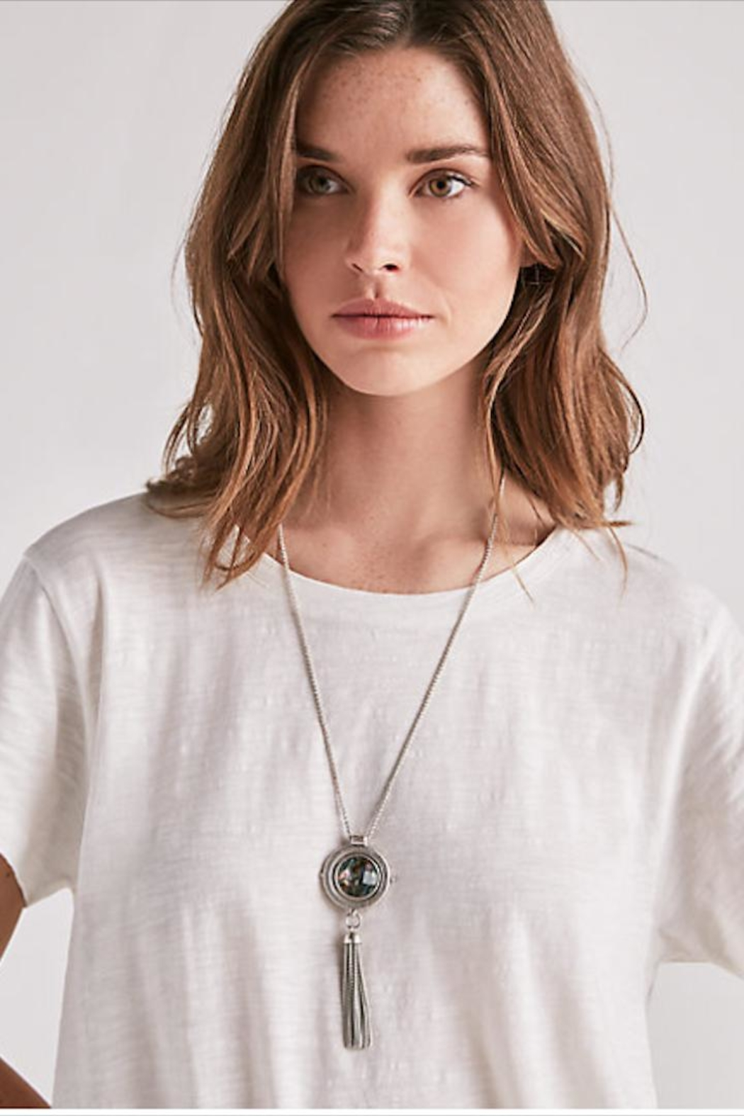 Lucky Brand Reversable Pendant Necklace - Side Cropped Image