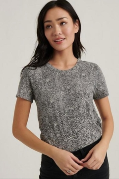 Lucky Brand Small-Print Cheetah Tee - Product List Image