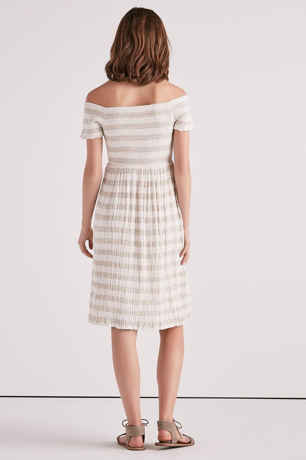 Lucky Brand Smocked Midi Dress - Back Cropped Image