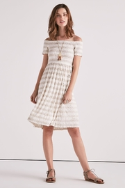 Lucky Brand Smocked Midi Dress - Product Mini Image