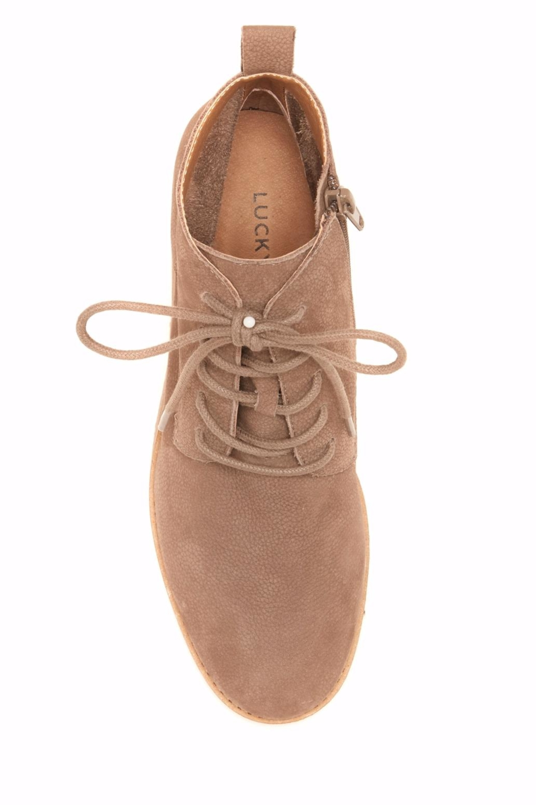Lucky Brand Tamela Lace-Up Bootie - Side Cropped Image