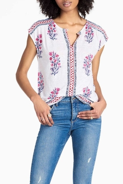 Lucky Brand Woodbock Floral Top - Product List Image