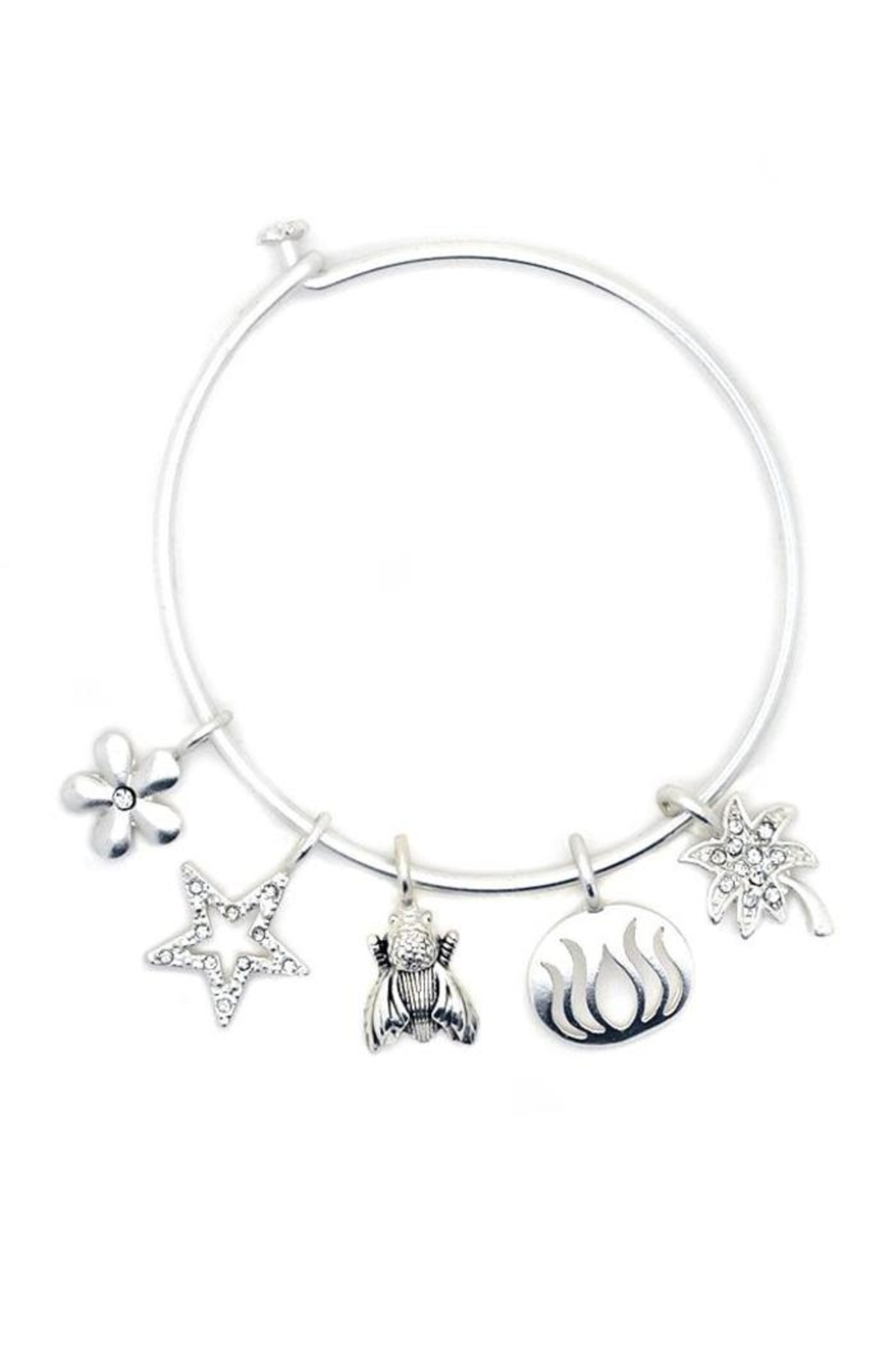 Lucky Feather Build It Bangle - Side Cropped Image
