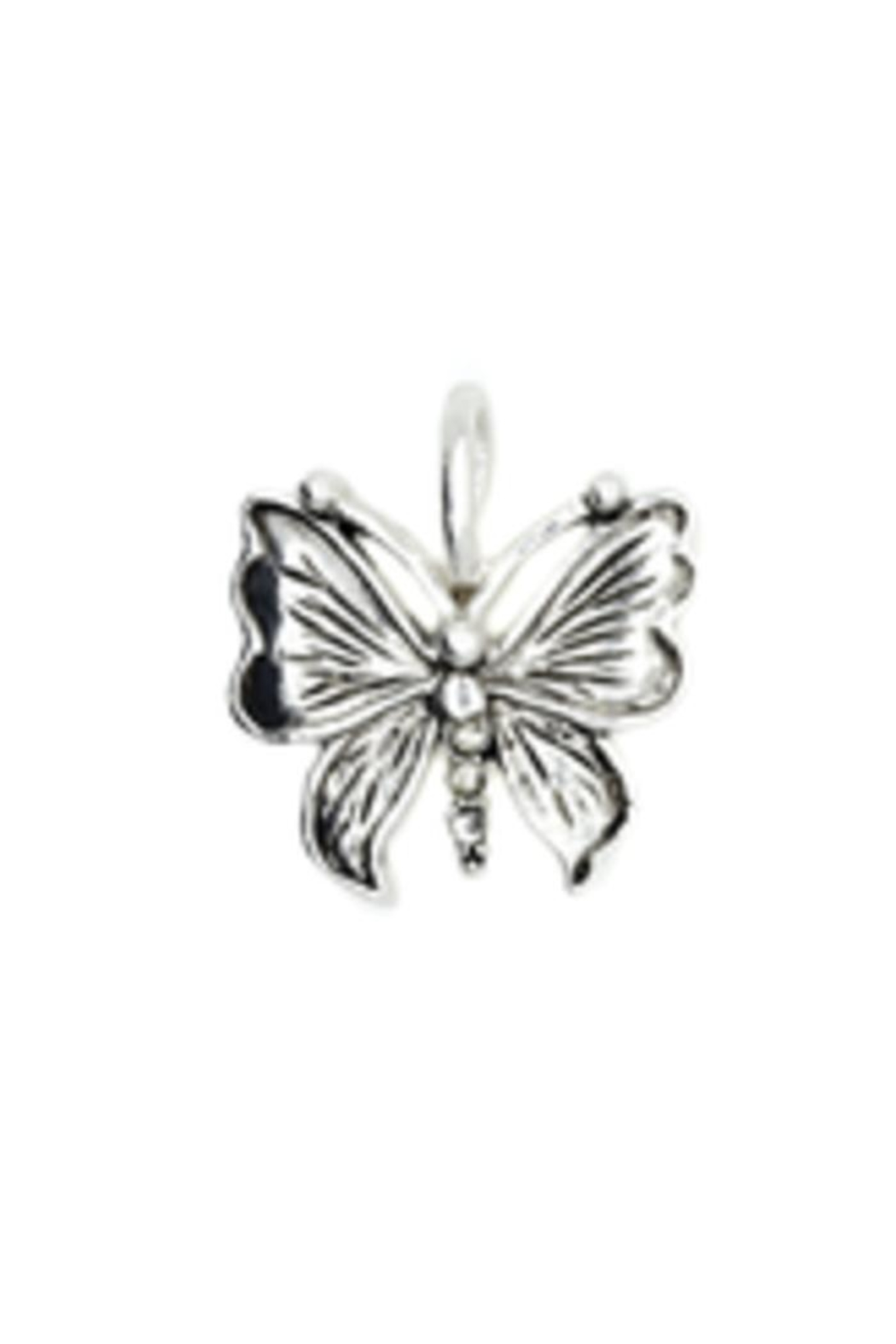 Lucky Feather Cute Butterfly Charm - Main Image