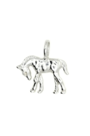 Lucky Feather Cute Horse Charm - Front cropped
