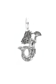 Lucky Feather Cute Mermaid Charm - Product Mini Image