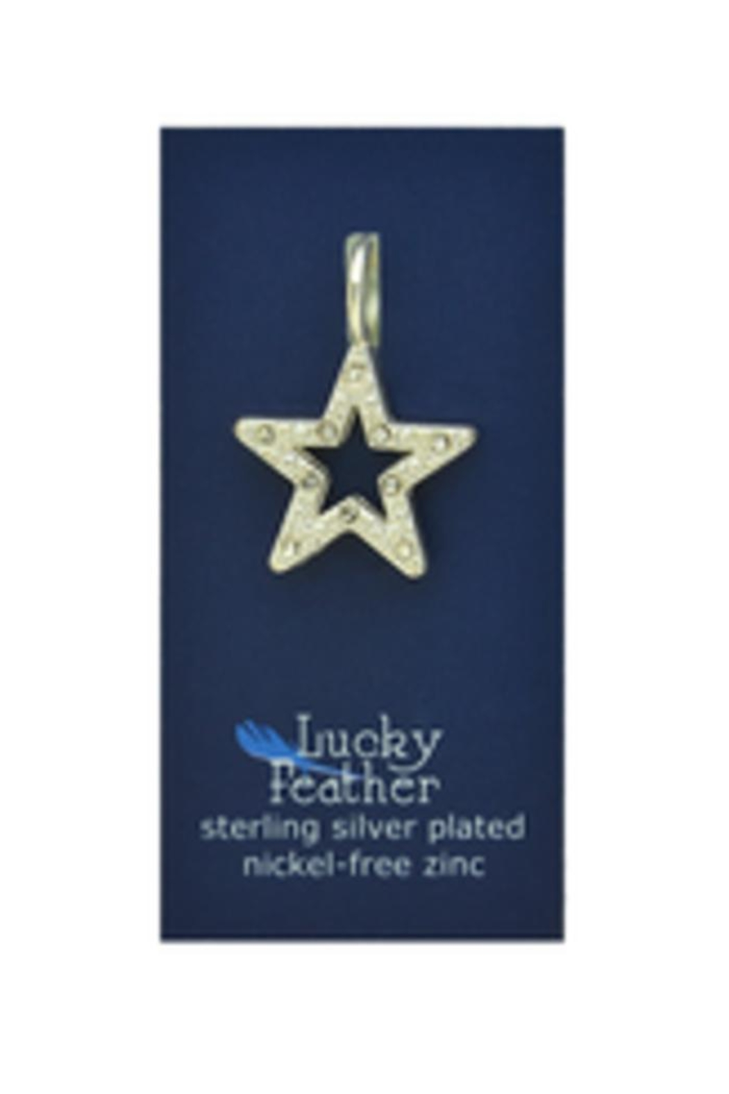 Lucky Feather Cute Diamond Star - Front Full Image