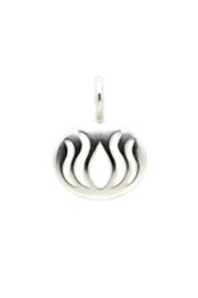 Lucky Feather Lotus Flower Charm - Product Mini Image