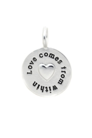 Lucky Feather Love Message Charm - Product Mini Image