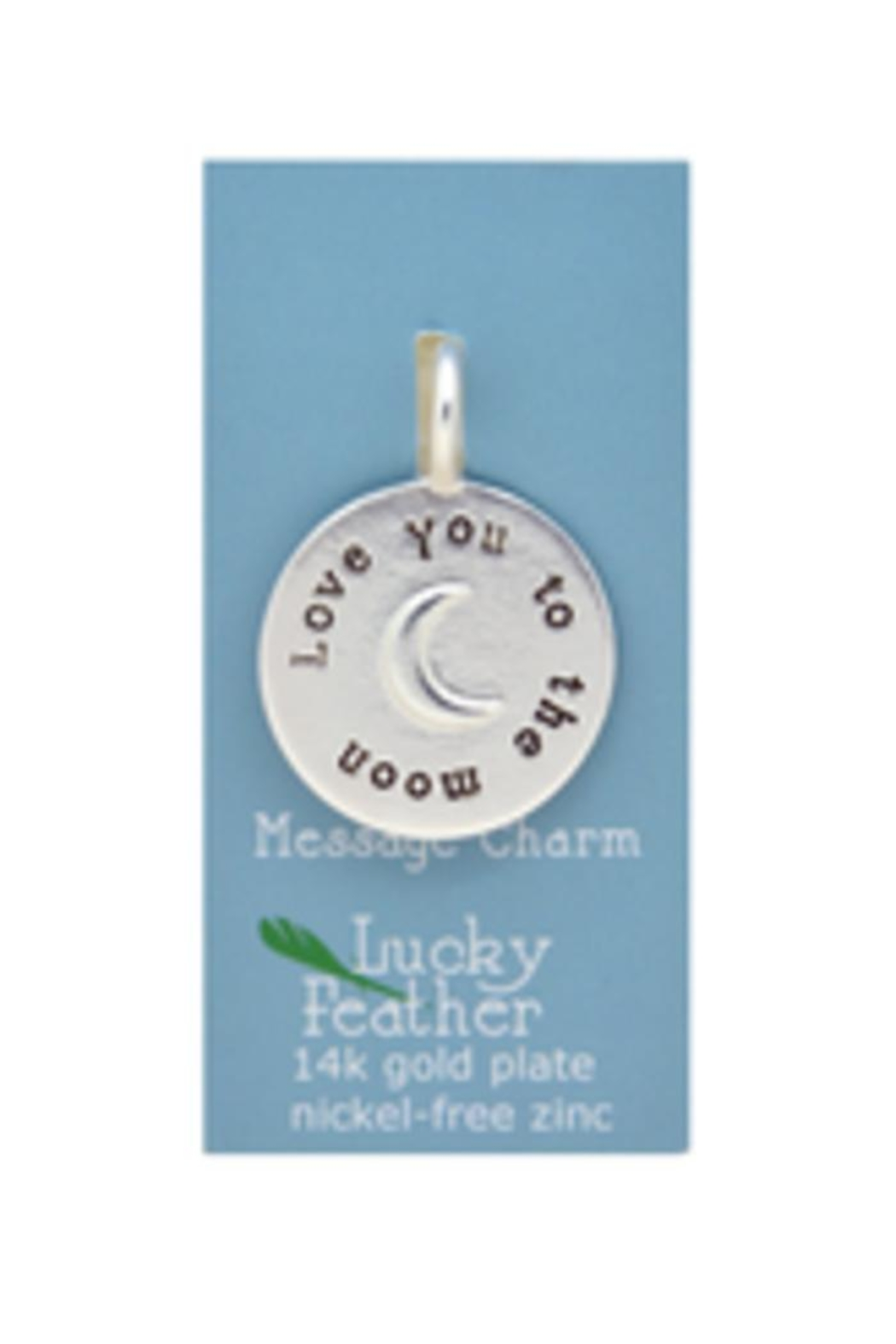 Lucky Feather Cute Love Moon - Front Full Image