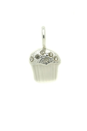 Lucky Feather Cute Cupcake Charm - Front full body