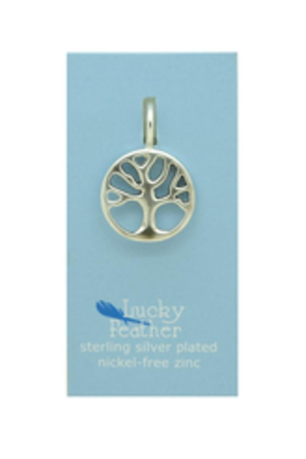 Lucky Feather Tree Life Charm - Front Full Image