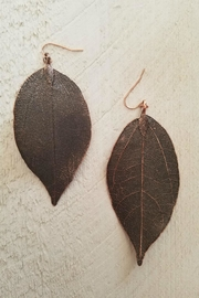 Lucky You Leaf Drop Earrings - Product Mini Image