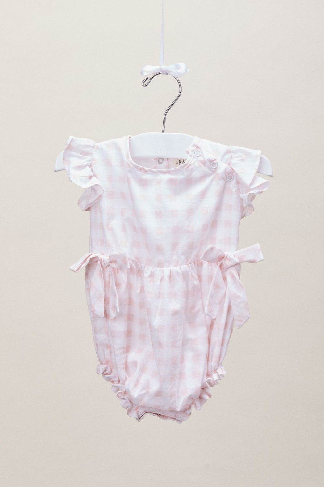 Lil Lemons Lucy Gingham Romper - Side Cropped Image