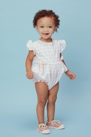 Lil Lemons Lucy Gingham Romper - Front cropped
