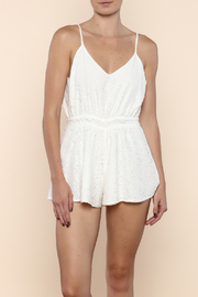 Lucy Love Penelope White Lace Romper - Product Mini Image