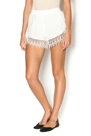 Lucy Love Whip Cream Scallop Shorts - Product Mini Image