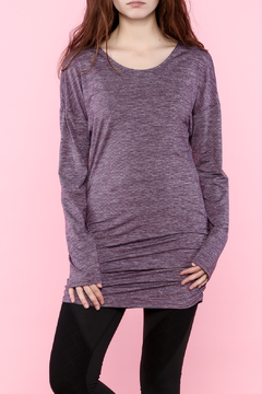 Shoptiques Product: Purple Long Sleeve Tunic