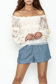 Lucy Paris Becca Lace Blouse - Product Mini Image