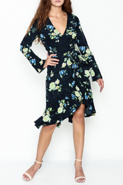 Lucy Paris Dark Floral Wrap Dress - Product Mini Image