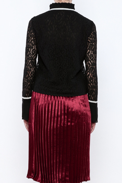 Shoptiques Product: Embroidered Mesh Top