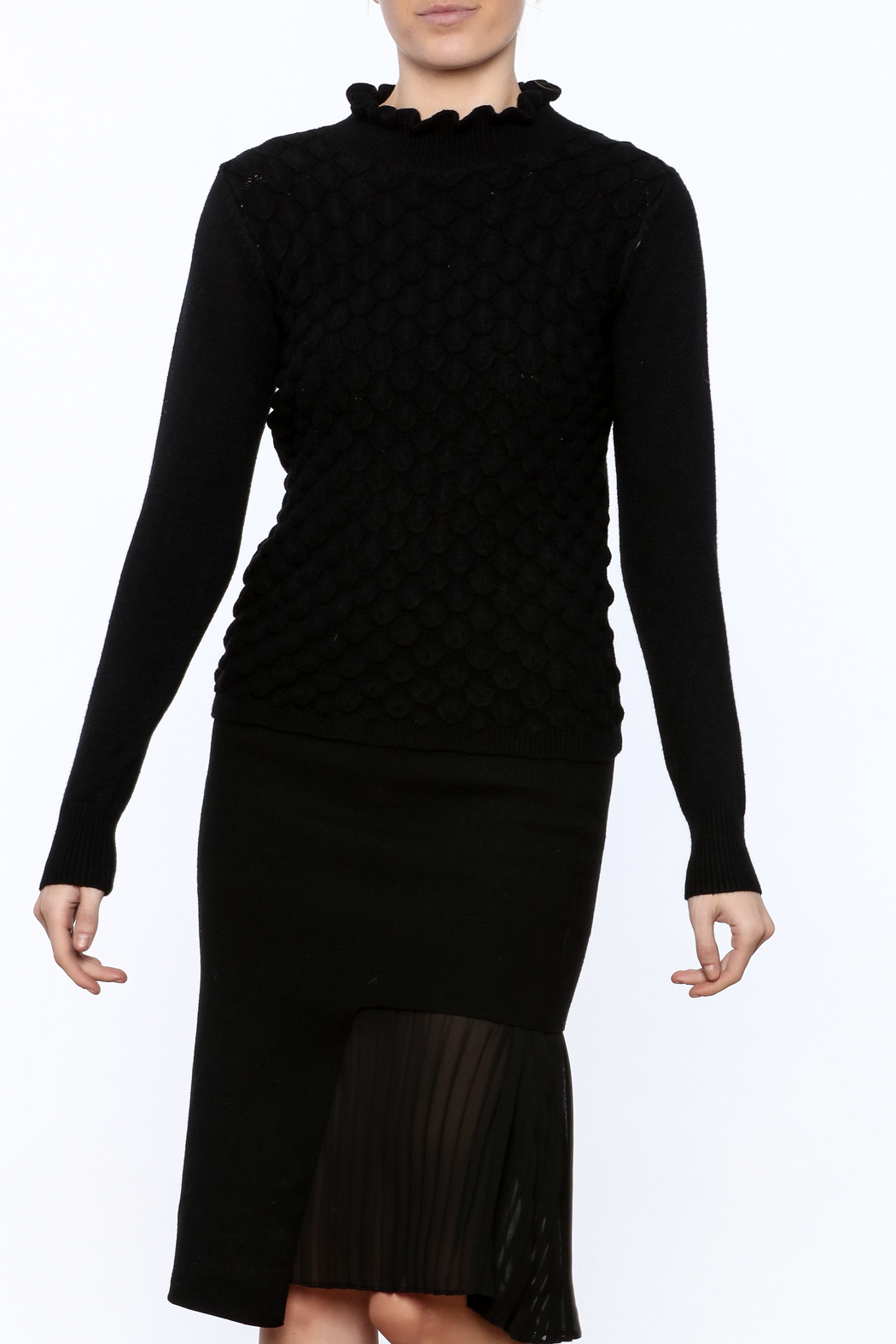 Lucy Paris Long Sleeve Mock Turtleneck Sweater - Main Image