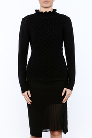 Lucy Paris Long Sleeve Mock Turtleneck Sweater - Side cropped