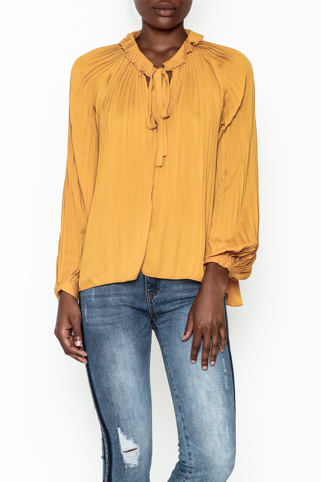 Lucy Paris Olivia Pleated Blouse - Main Image