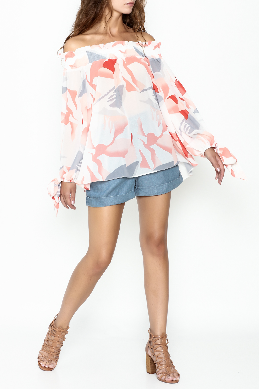 Lucy Paris Printed Blouse - Side Cropped Image