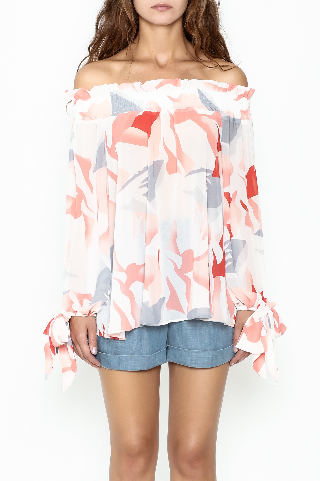 Lucy Paris Printed Blouse - Front Full Image