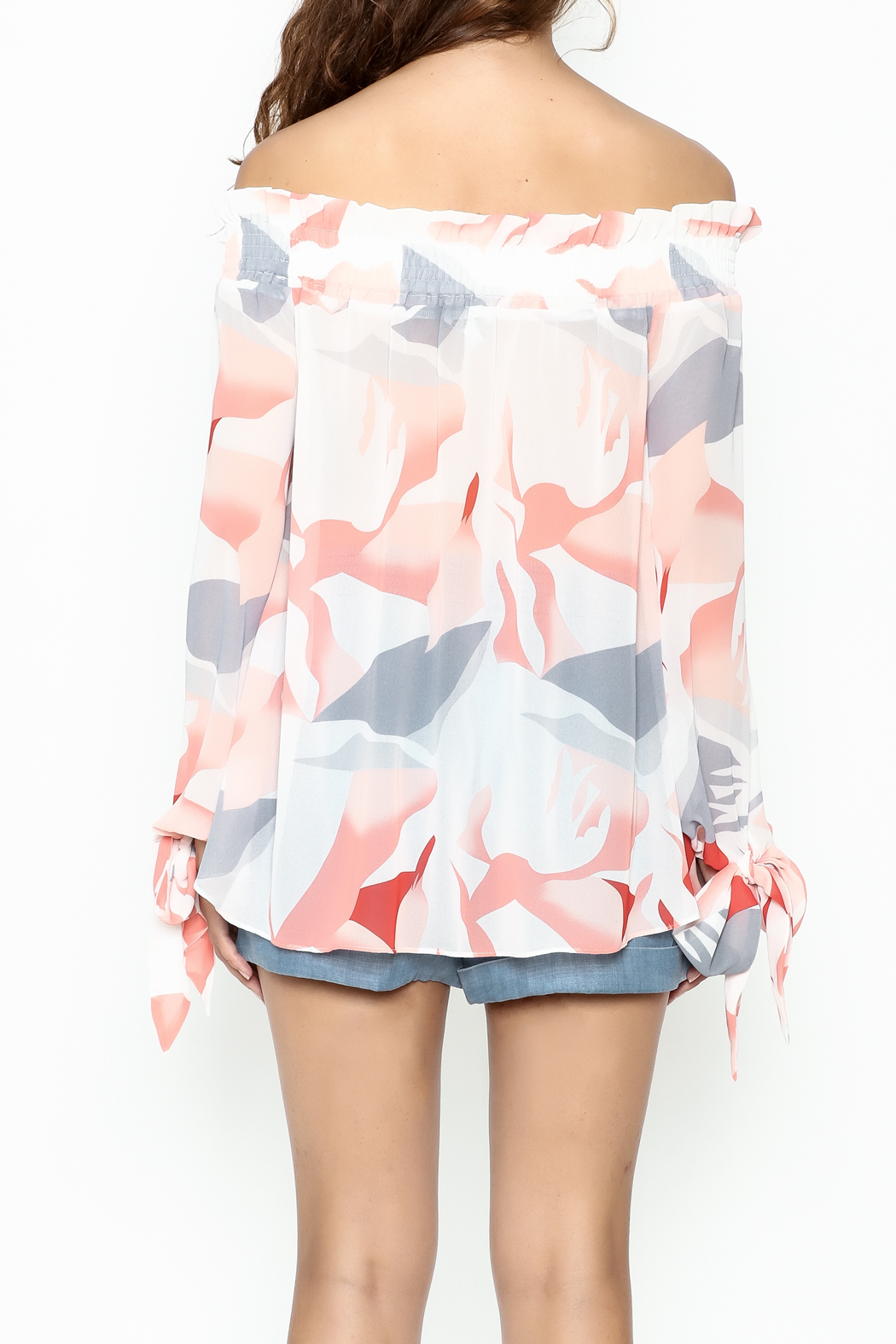 Lucy Paris Printed Blouse - Back Cropped Image