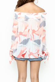 Lucy Paris Printed Blouse - Back cropped