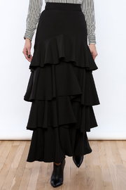 Lucy Paris Ruffle Dream Maxi Skirt - Product Mini Image