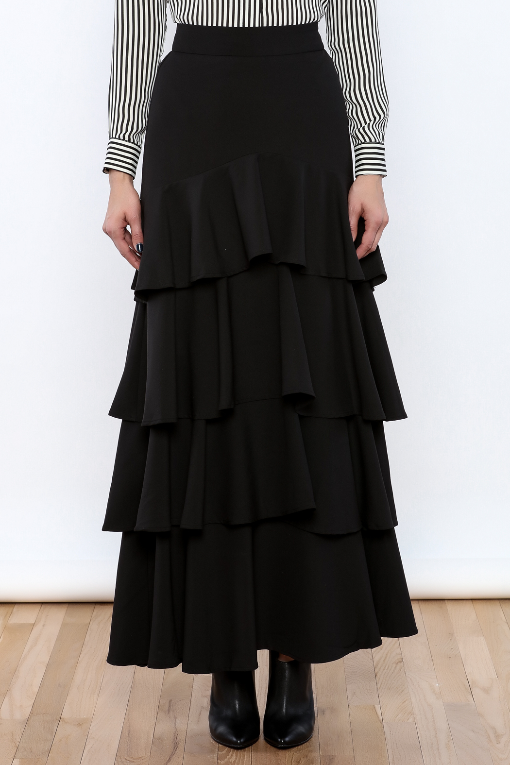 Lucy Paris Ruffle Dream Maxi Skirt - Side Cropped Image