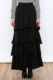 Lucy Paris Ruffle Dream Maxi Skirt - Side cropped