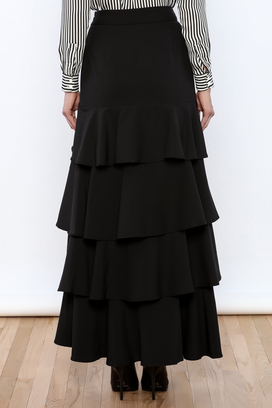 Lucy Paris Ruffle Dream Maxi Skirt - Back Cropped Image