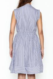 Lucy Paris Striped Fit & Flare Dress - Back cropped