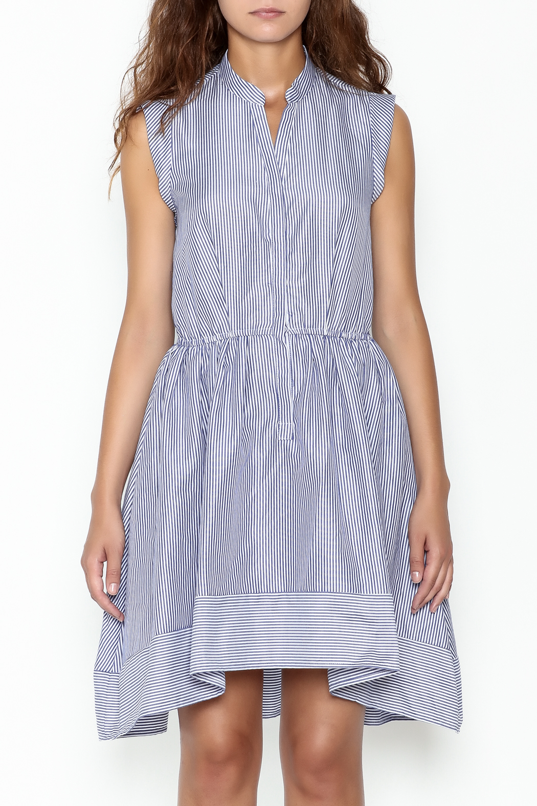 Lucy Paris Striped Fit & Flare Dress - Front Full Image