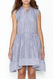 Lucy Paris Striped Fit & Flare Dress - Front full body