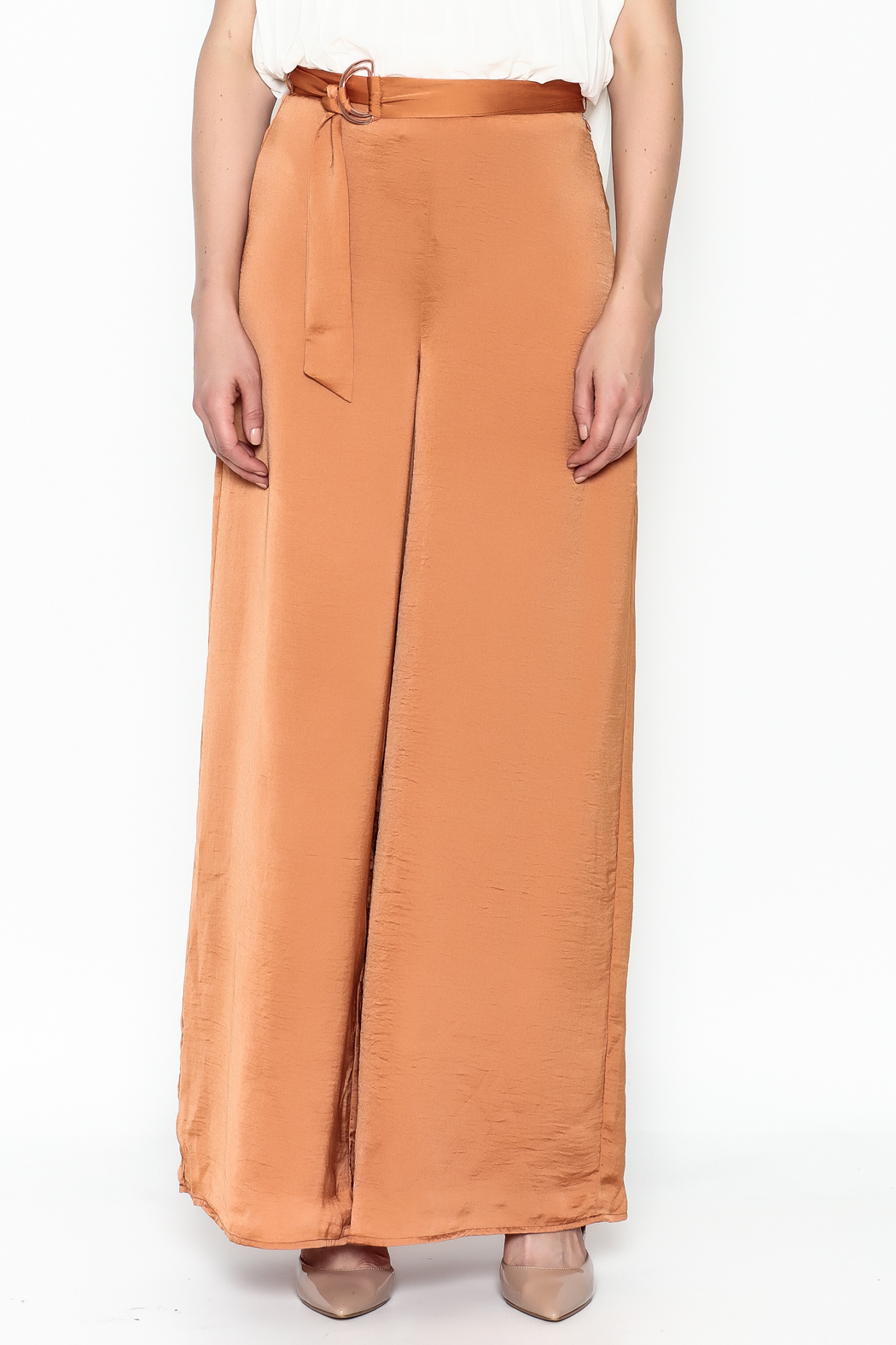 Lucy Paris Terra Cotta Pants - Front Full Image