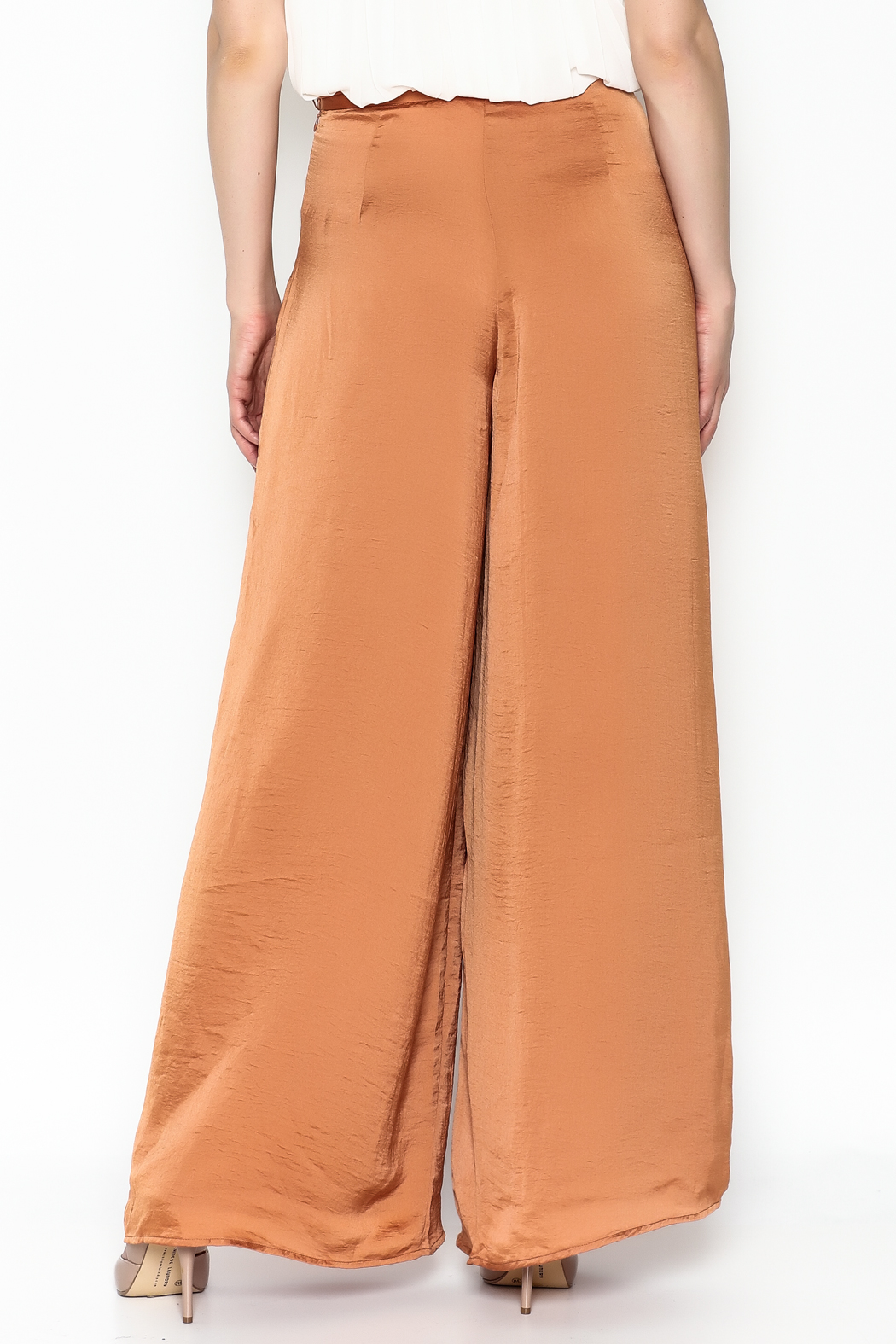Lucy Paris Terra Cotta Pants - Back Cropped Image