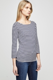 L'Agence Lucy Stripe Shirt - Front full body