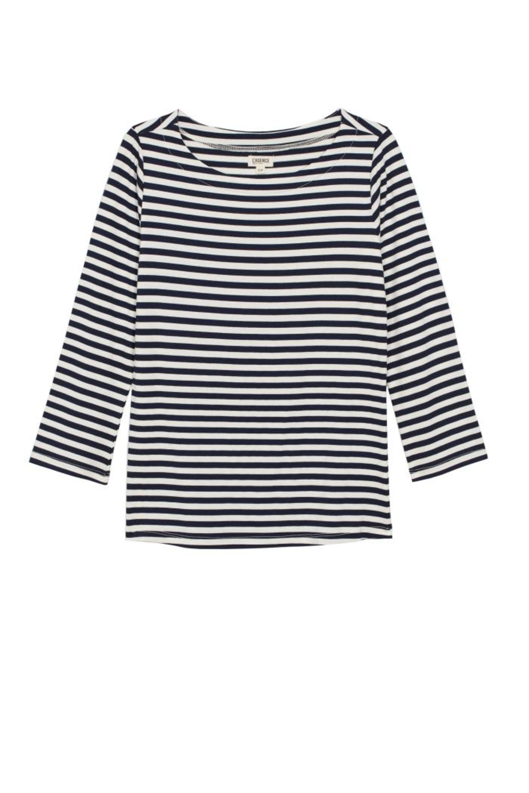 L'Agence Lucy Stripe Shirt - Back Cropped Image