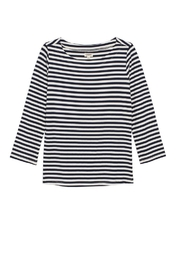 L'Agence Lucy Stripe Shirt - Back cropped