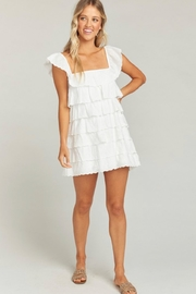 Show Me Your Mumu Lucy White Eyelet Mini Dress - Side cropped