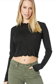 Lucy Love Black Cropped Turtle-Neck - Product Mini Image