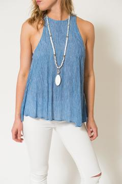 Lucy Love Chambray Charlie Tank - Product List Image