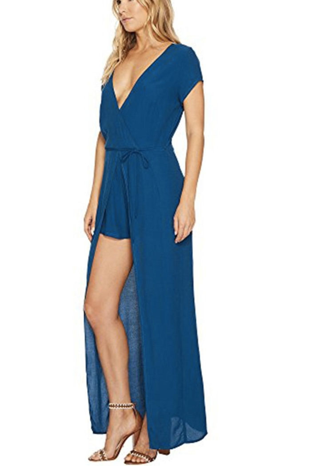 Lucy Love Lapis Romper Dress - Front Full Image