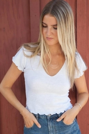 Lucy Love Light-Weight White Crop - Front cropped