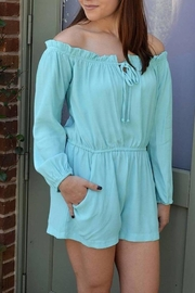 Lucy Love Off Shoulder Romper - Product Mini Image